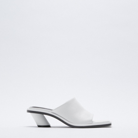 Zara White Soft Leather Sandal
